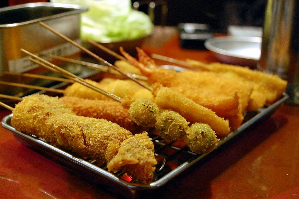 Japan, Osaka, street-food, kushikatsu