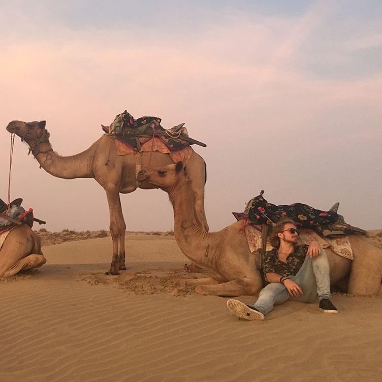 India group tour desert trek