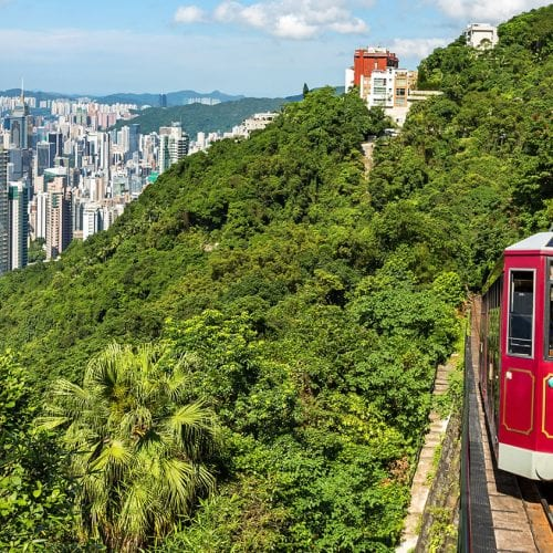 Hong Kong tram on China group tours