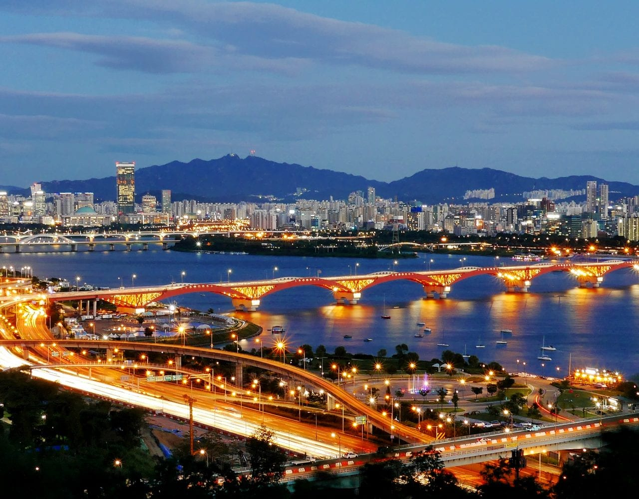 Seoul at night picture for South Korea Group Tour