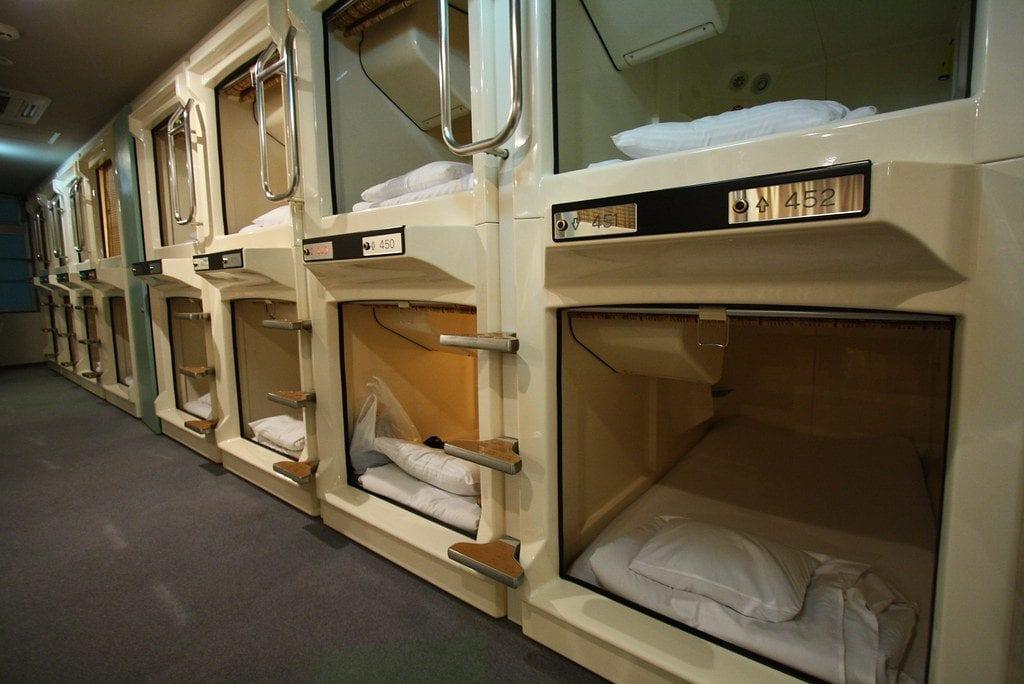 capsule hotel budget travel