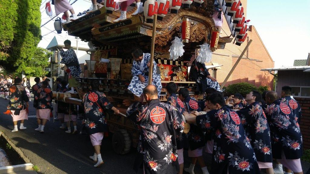 Japan matsuri parade