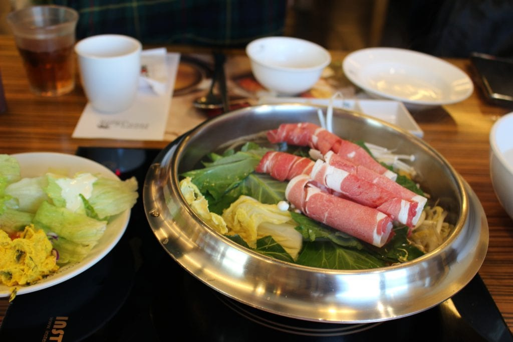 shabu shabu hot pot korean food