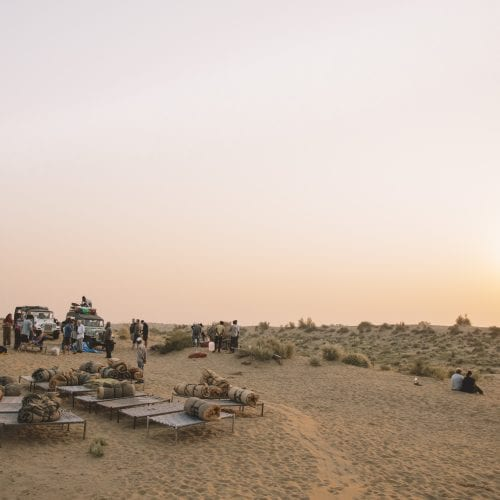 Backpacking tour camping in Jaisalmer