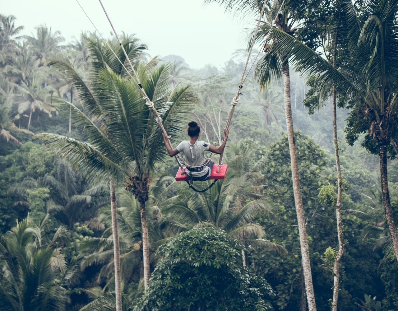 Bali Swing on a group tour