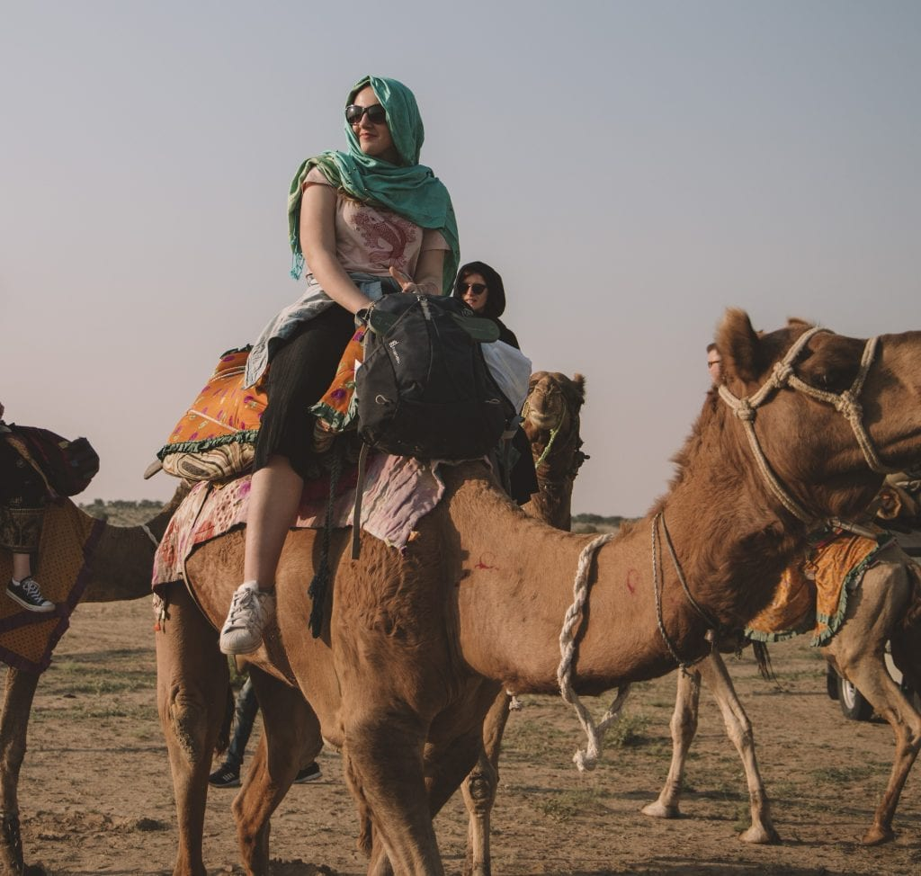 Travelling in the Indian desert's summer heat