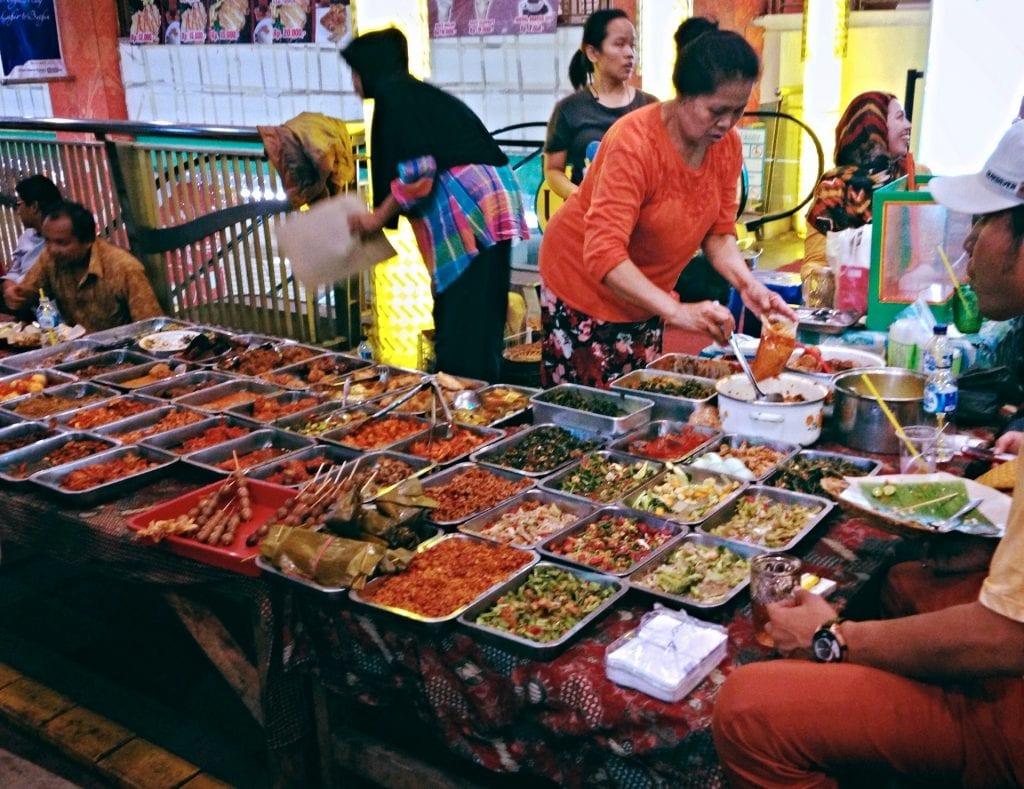 Food being served at Jakarta Street Food Market