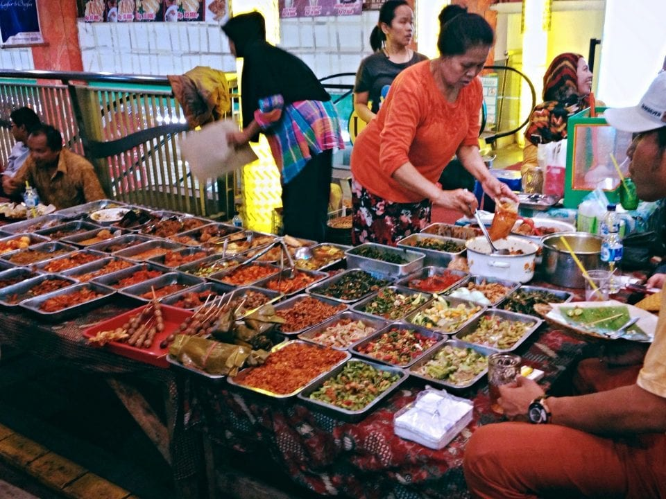 Food being served at Jakarta Street Food Market