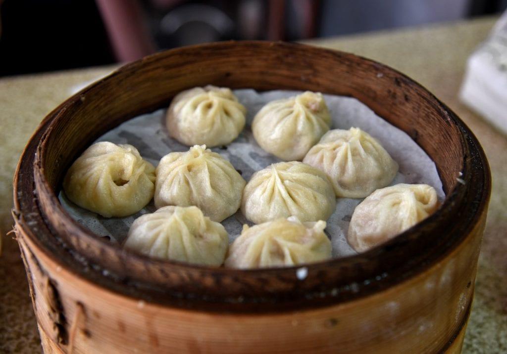 Xiao long bao in Shanghai, China, Asia
