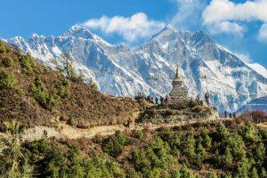 Paisaje de montaña nepalí