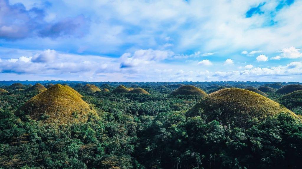 Chocolate Hills on Philippines Island