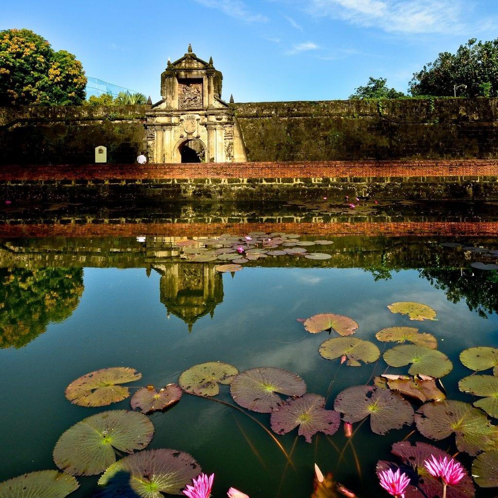 Lily pond of Fort Santiago