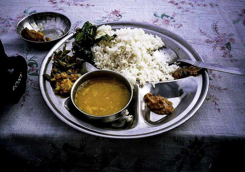Nepal dal bhat dish