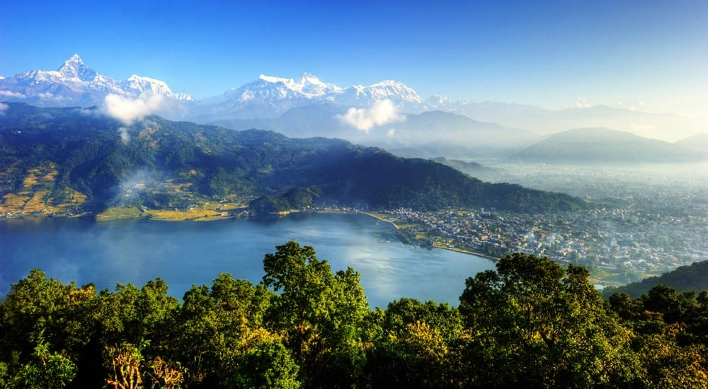 Pokhara from the mountains