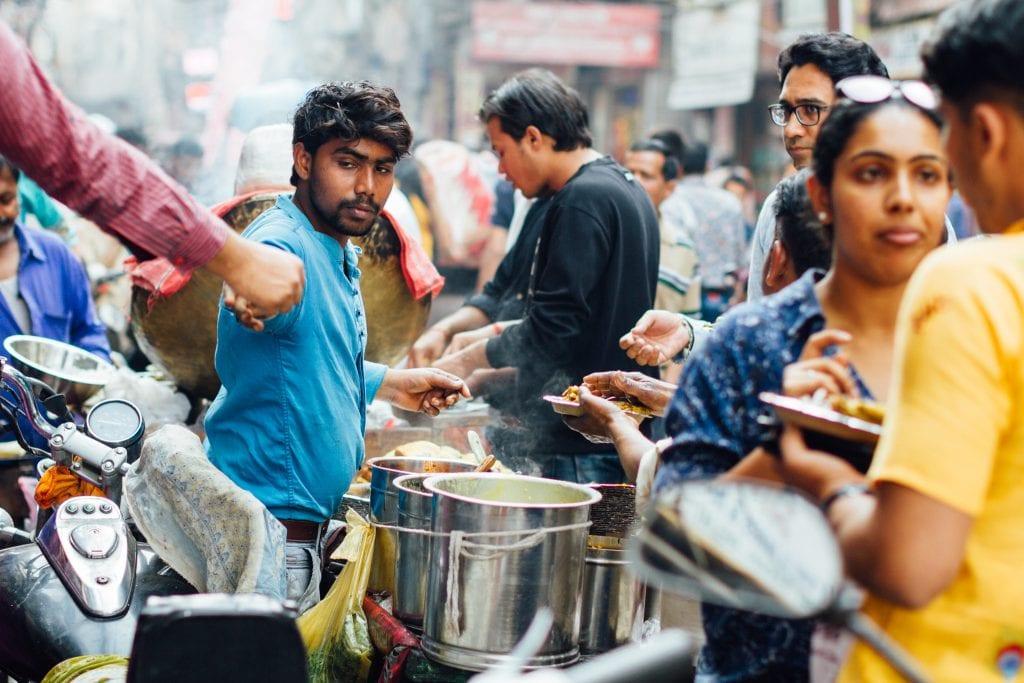 street food vendor in delhi