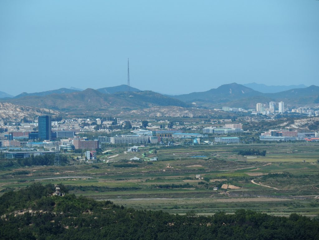 Vista de la zona desmilitarizada de Dora